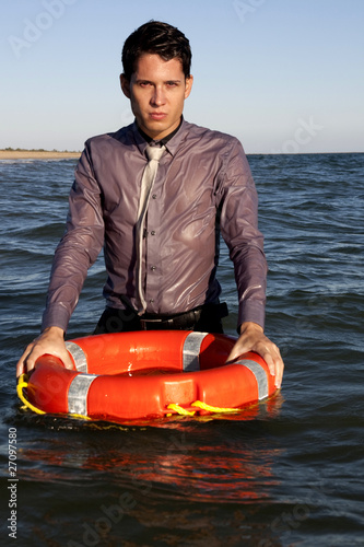 holds the buoy