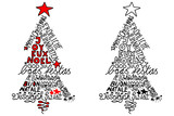 Fototapety Christmas tree, different languages 1
