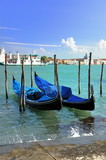 Gondoles à Venise.