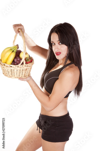 Woman fruit side
