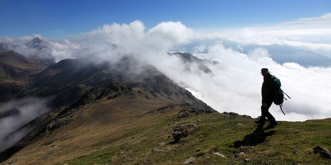 Wandern über den Wolken - hiking above the clouds
