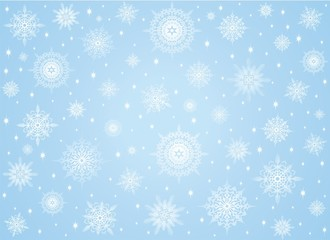 Fiocchi di Neve in Cristalli-Crystal Snowflakes Background