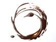Diseño circular de chocolate