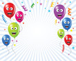 balloons party background vector kids