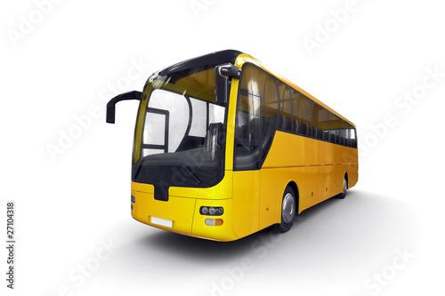 Reisebus in Gelb