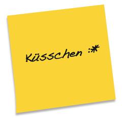 Notizzettel Kuesschen