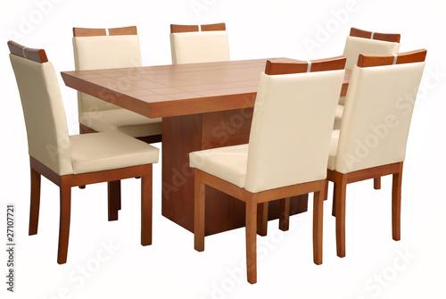 Mesa comedor minimalista de foodcolors imagen libre de - Mesa comedor minimalista ...