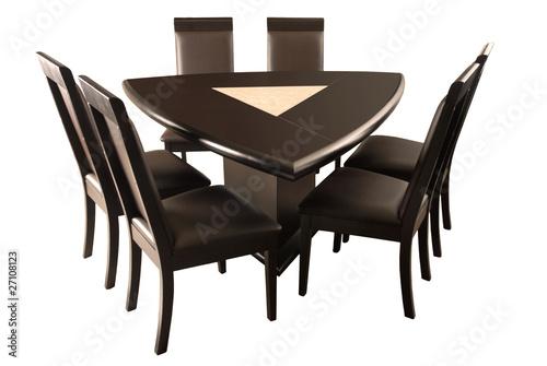 Mesa comedor triangular