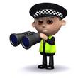 3d Policeman surveillance