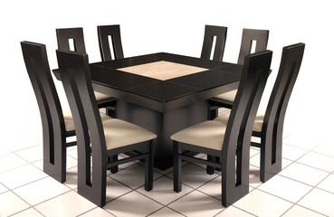 Mesas de comedor triangulares for Comedor triangular 9 sillas