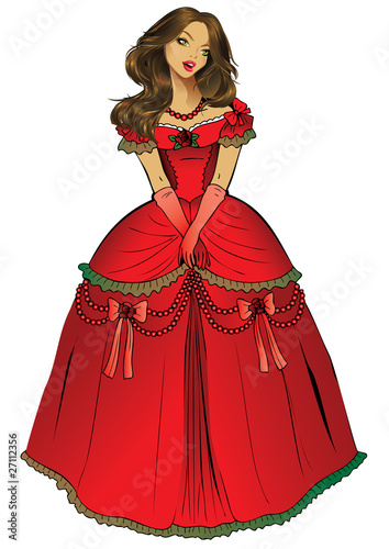 Beautiful princess. Vector art-illustration.
