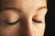 Close-up of closed eyes
