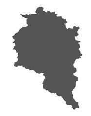 Karte von Vorarlberg - isoliert