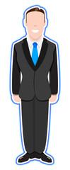 Smart Happy Businessman Vector
