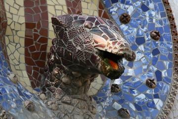 Tête de lézard parc Guell (Barcelon Espagne)