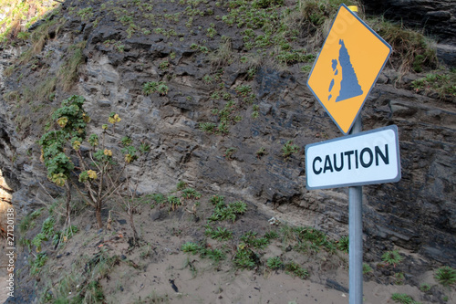 landslide risk sign