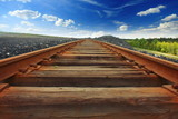 Railroad and blue sky