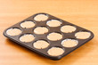 Raw cupcake dough