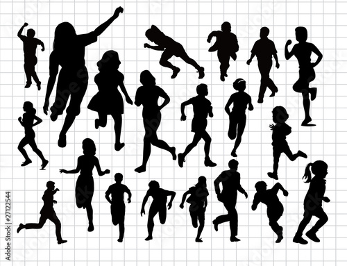 run silhouettes
