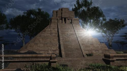 Der Tempel im Gegenlicht
