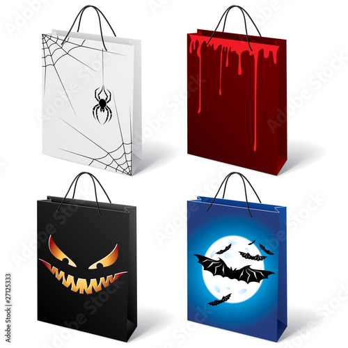 Halloween shopping bags