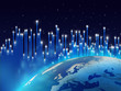 Fibre optics over blue planet