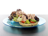 Wholemeal Bagel with Tuna and Mixed Salad