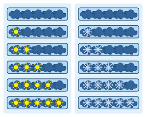 Rating-joke (the clouds with the sun and snowflake)