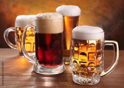 Cool beer mugs.
