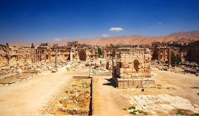 City of Jupiter's temple, Baalbek, Lebanon