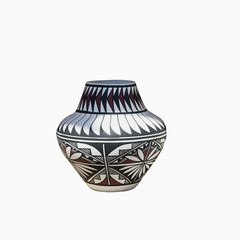 Navajo Pottery isolated on a white background - path include