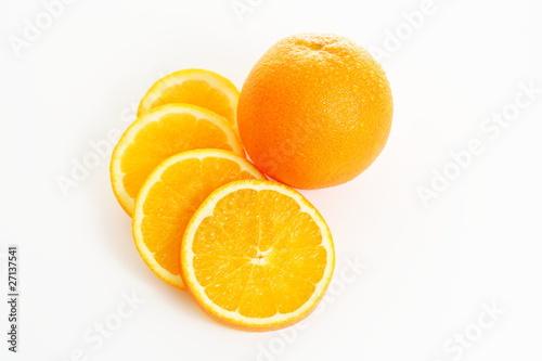 Fotobehang Plakjes fruit Orangen - Orange mit Orangenscheiben