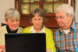 Senior citizens and the internet poster