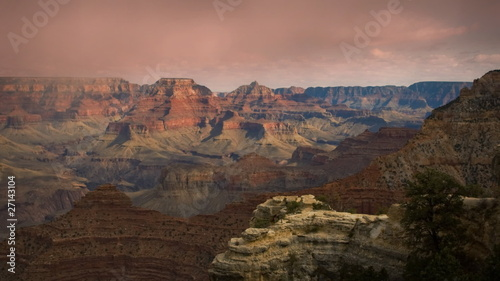 Grand Canyon Arizona Sunset Time-lapse Cloud Storm LOOP