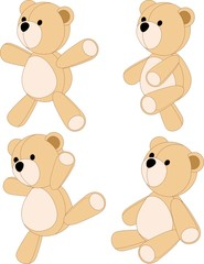 Orso di Pezza-Peluche-Teddy Bear-Vector