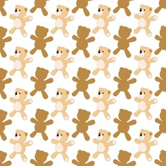 Orso di Pezza Sfondo-Peluche-Teddy Bear Background-Vector