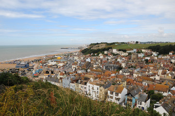 View over Hastings from East Hill