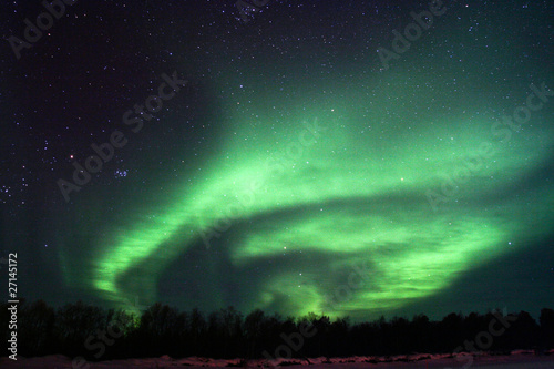 Background showing Northern lights in the sky