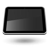 Fictitious touch tablet PC 2 (horizontal view). Editable vector