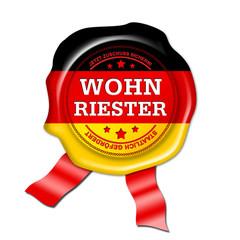 wohn riester siegel, button