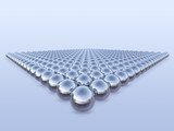 3d metal balls in geometric pattern