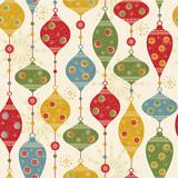 Fototapety Seamless pattern with balls and stars