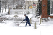 Man with Snow Blower