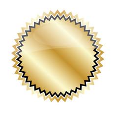 Störer Gold Leer