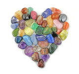 Crystal gem stones in shape of heart poster