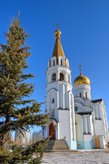 Russian church in Samara, Russia