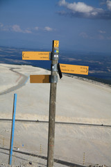 On top of the mont Ventoux, France