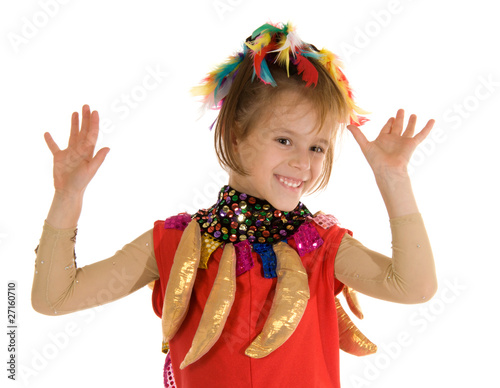Girl in carnival costume