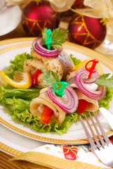 herring rollmops for christmas