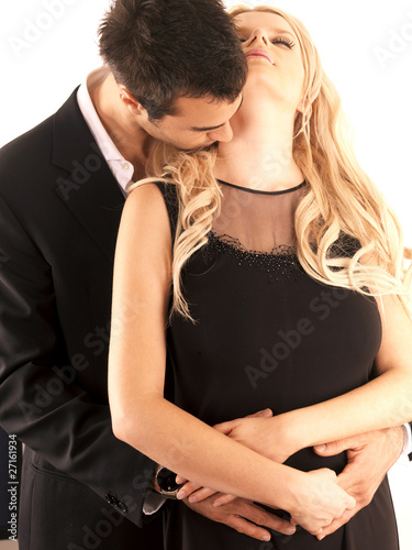 Young Couple Kissing. Models Released